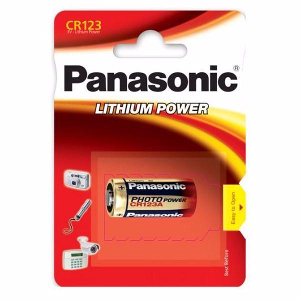 Billede af Panasonic  CR123 Batteri (1 Stk. Pakning)